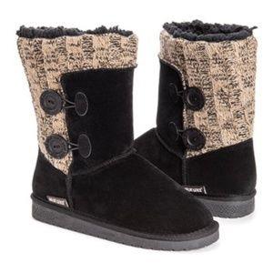NWT Muk Luks Ebony & Beachwood Matilda Boots